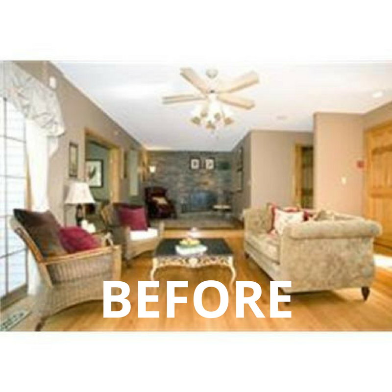 Before - A Home for the Whole Family - Monson Massachusetts Interior Design