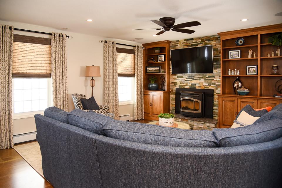 Family Room - The Empty Nester's Dream - MA Interior Design