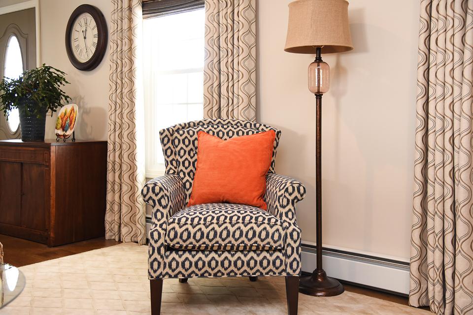 Side Chair Lamp Accessories - Neutral Pop of Color - The Empty Nester's Dream - Monson Interior Designer