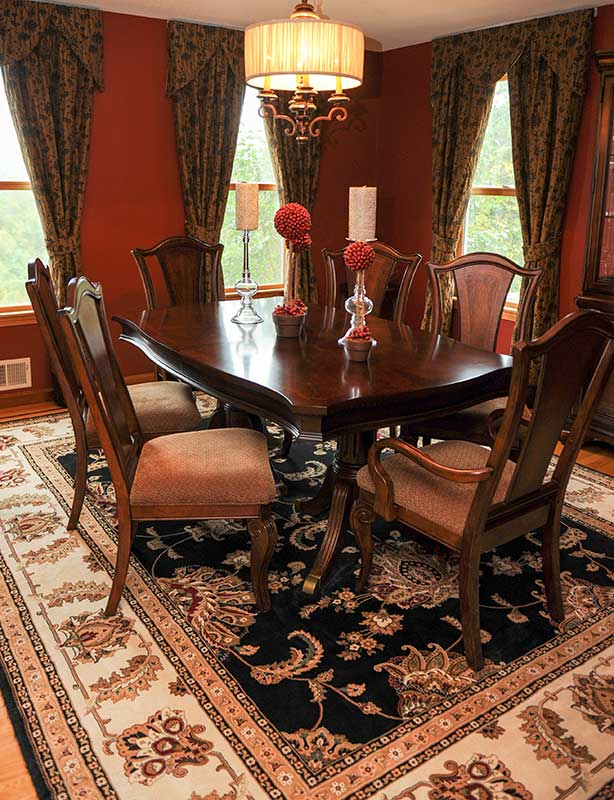 red-dining-room