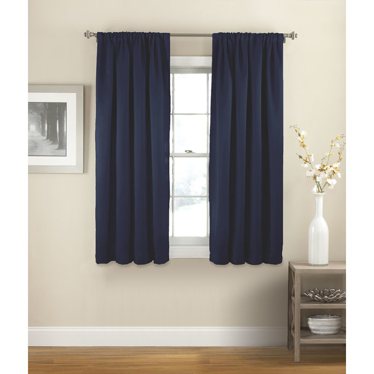 How to hang curtains the 2 rules you need for drapery for Roman shades that hang from a curtain rod