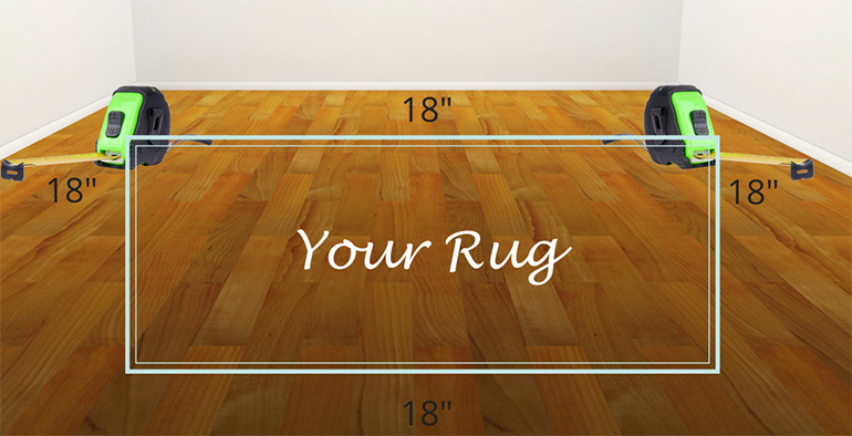 Easy way to device your area rug size - Details Full Service Interiors - Interior Design in MA