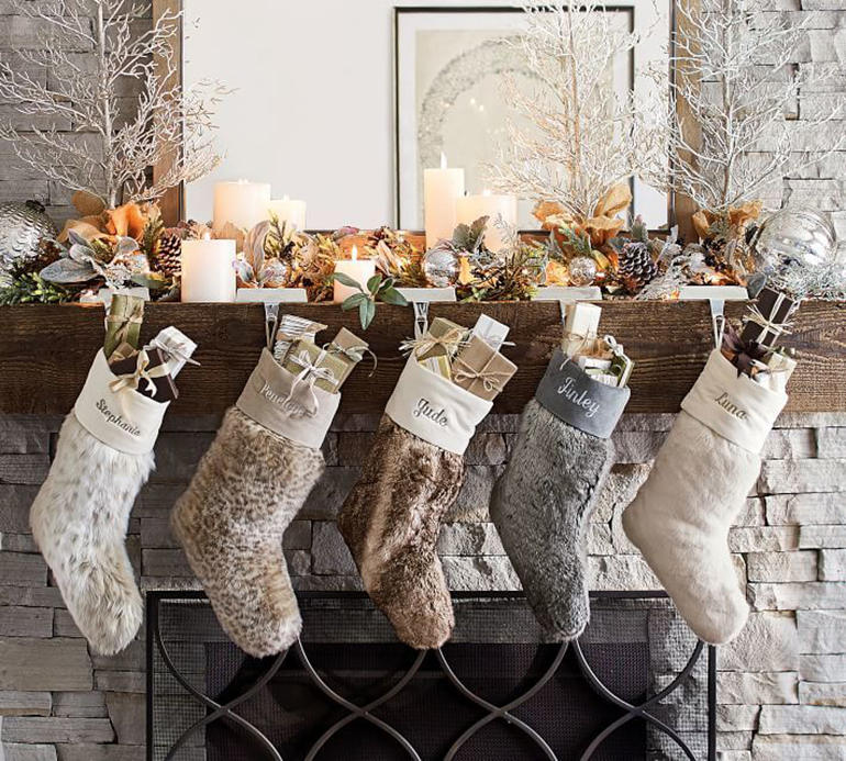 Christmas Stockings - Details Full Service Interiors - Interior Decorator in Monson