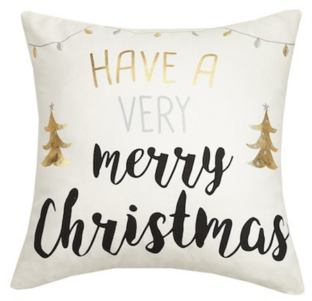 Merry Christmas Holiday Pillow - Details Full Service Interiors - MA Interior Designer
