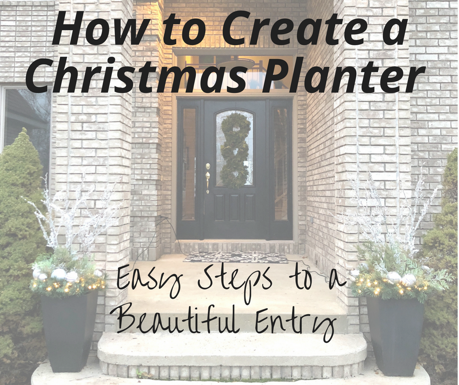 How to Create a Christmas Planter - Easy Steps to a Beautiful Entry