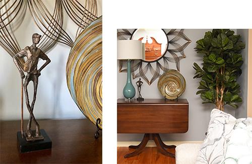 Table Lamps - Drop Leaf Table - Antiques - Details Full Service Interiors - Monson Interior Decorator