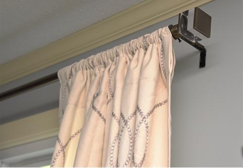 Brushed Gold Drapery Rod - Details Full Service Interiors - Monson Interior Design