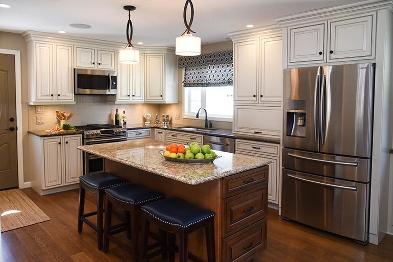 Beautiful New Kitchen   White Kitchen Cabinets   Details Full Service  Interiors   Kitchen Renovation