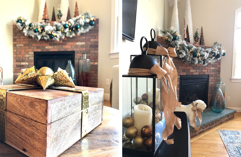 How to decorate a modern family room for Christmas - Details ...