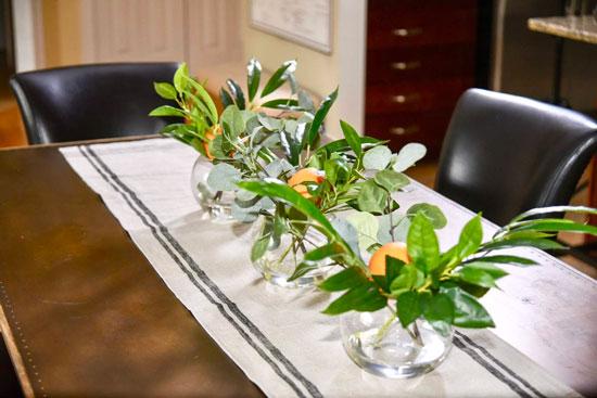 Orange Dining Table Accessories Plant Centerpieces Details Interiors